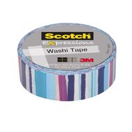 Scotch Washi Craft Tape 15mm x 10m Watercolour Stripe
