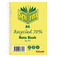 Spirax 813 Recycled Notebook 100 Page A6