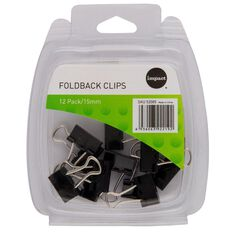 Impact Foldback Clips 15mm 12 Pack