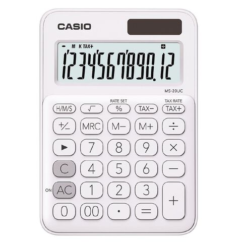 Casio MS20UCWE Desktop 12 Digit Calculator White