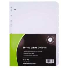 Office Supply Co 10 Tab White Manilla Dividers