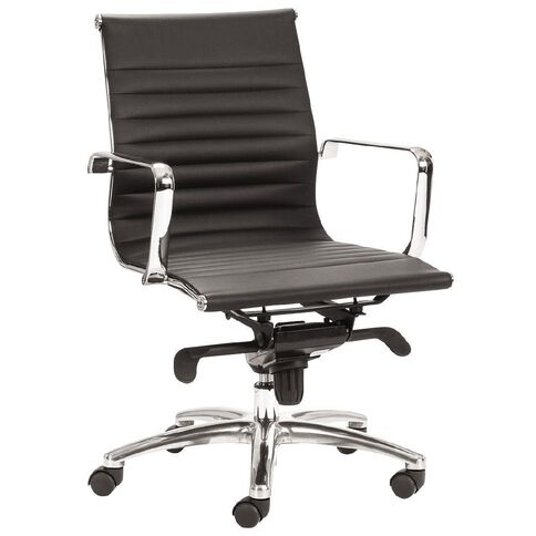 Chair Solutions Contempo Midback Chair Black PU