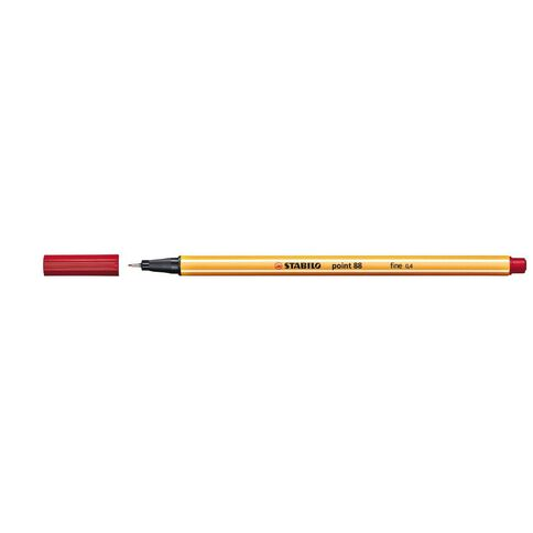 Stabilo Point 88 Fineliner 0.4mm Red