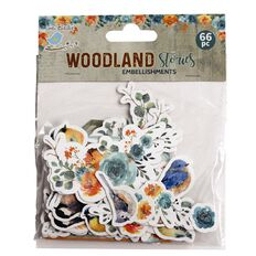 Little Birdie Ebellishments Woodland Stories 66 Pieces