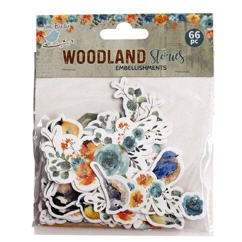 Little Birdie Ebellishments Woodland Stories 66 Pieces