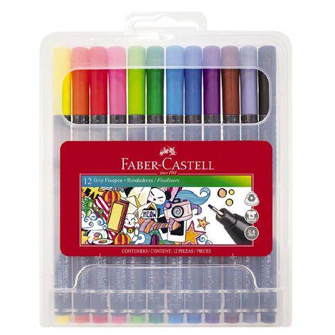 Faber-Castell Grip Fine Pen 0.4mm - Hard Case of 12