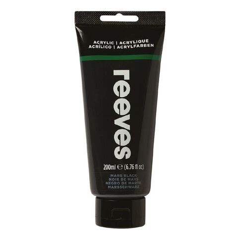 Reeves Fine Acrylic Mars Black 630 200ml Black 200ml