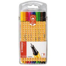 Stabilo Stabilo Pen Point 88 10 Pack Assorted