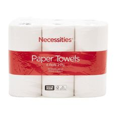 Necessities Brand Paper Towel 6s
