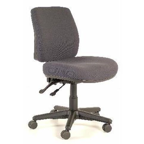 Buro Roma 2 Lever Midback Chair Charcoal