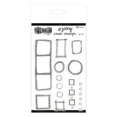 Ranger Dylusions Dyalog Clear Stamps All the Right Boxes