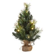 Wonderland Christmas Glitter Tree Warm White 45cm 43 Tips 15 LED