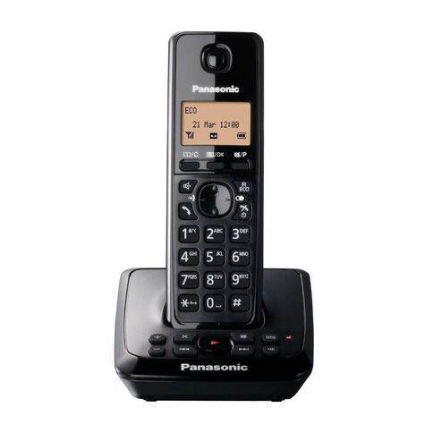 Panasonic Kx-Tg2721Nzb Cordless Phone With Answerphone Black