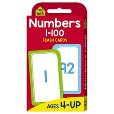 Hinkler School Zone Numbers 1-100 Flash Cards