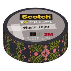 Scotch Washi Craft Tape 15mm x 10m Pretty Folk Art