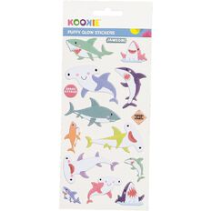 Kookie Sticker Sheet Puffy Glow in the Dark 3 Assorted