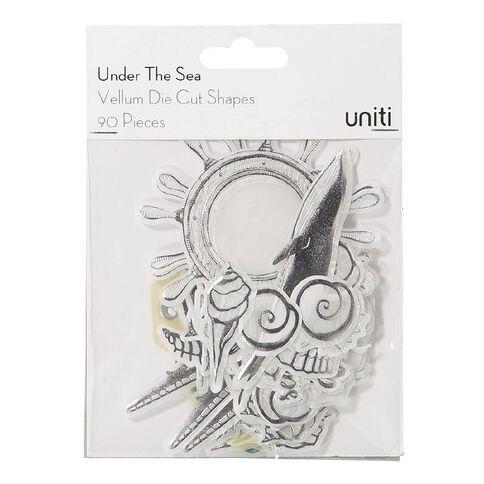Uniti Under The Sea Vellum Die Cuts 90 Pieces