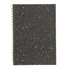 Uniti F&F Harcover Spiral Notebook Grey Bricks Colorful A4