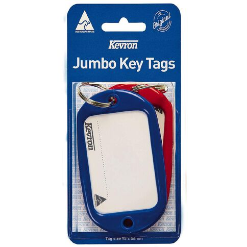 Kevron Jumbo Key Tags Assortment 2 Pack