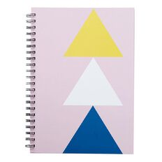 Uniti Geo Notebook Spiral Hardcover Pink Light A4