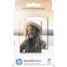 HP Sprocket Plus Photo Paper 20 Sheet Pack