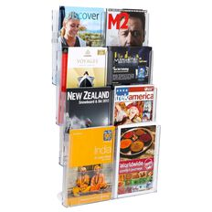Deflecto Brochure Holder Lit Loc Wall Rack Kit 8 x A4