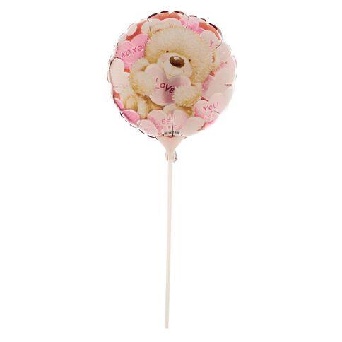 Artwrap Teddy Love Foil Balloon with Stick 22.8cm