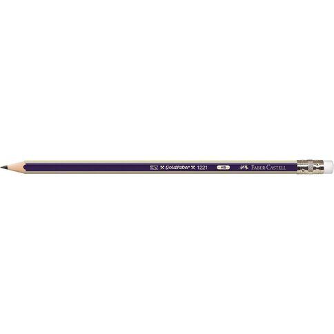 Faber-Castell Pencil Hb Eraser Tip Black