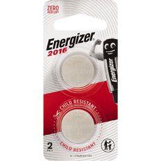 Energizer Lithium Coin Batteries ECR2016BP2 2 Pack