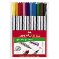Faber-Castell Grip Fine Pen 0.4mm Wallet Of 10