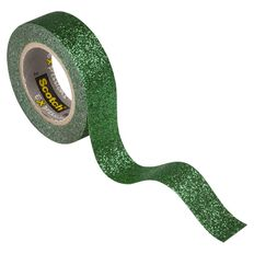 Scotch Craft Glitter Tape 15mm x 5m Dark Green