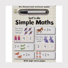 Wipe Clean: Let's Do Simple Maths