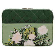 Conservatory Notebook Sleeve 14.1 inch Flower Arrangement Green