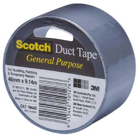 Scotch General Purpose Duct Tape 48mm x 9.14m Silver