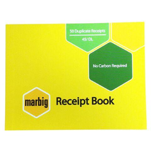 Marbig Receipt Book 45 Duplicate 50 Leaf Yellow
