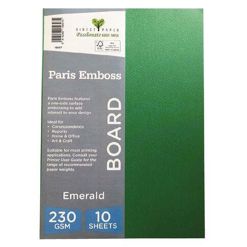 Direct Paper Paris Emboss 230gsm A4 10 Pack Emrald