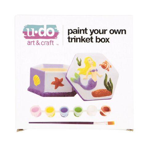 U-Do Paint Your Own Mermaid Trinket Box