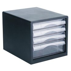 Esselte Desktop Filing 4 Drawer Black