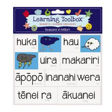 Learning Tool Box Magnetic NZ Maori Weather Assorted 24 Pack