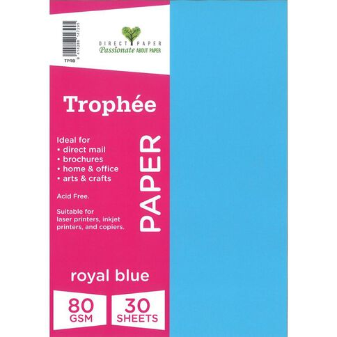 Trophee Paper 80gsm 30 Pack Royal Royal A4