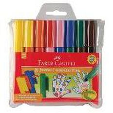 Faber-Castell Jumbo Connector Pens 8 Pack Multi-Coloured