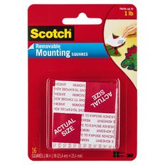 Scotch Removable Mounting Square 108 White