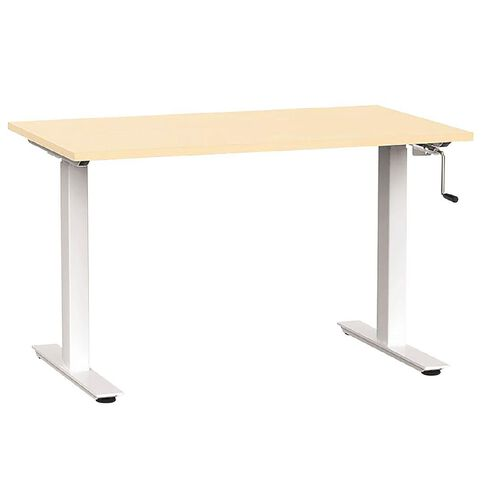 Agile Height Adjustable Desk 1200 Nordic Maple/White