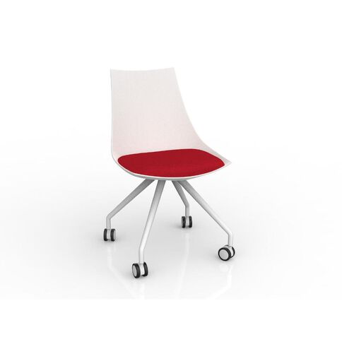 Luna White Chilli Red Chair