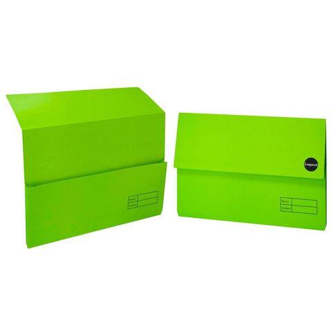 WS Manilla Document Wallet Foolscap Green