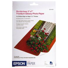Epson Photo Paper S041464 Glossy 255gsm 5 x 7 20 Pack