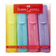 Faber-Castell Highlighters Pastel 4 Pack Assorted