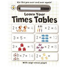 Wipe Clean: Learn Your Times Tables