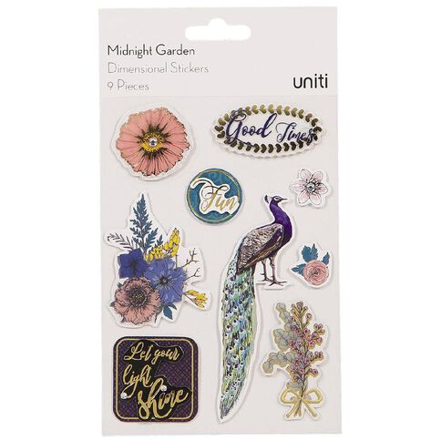 Uniti Midnight Garden Dimensional Stickers