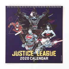 Justice League 2020 Calendar 305mm x 305mm